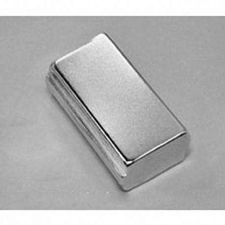 "SBCX86-OUT Neodymium Block Magnet, 1 1/2"" x 3/4"" x 1/2"" thick"