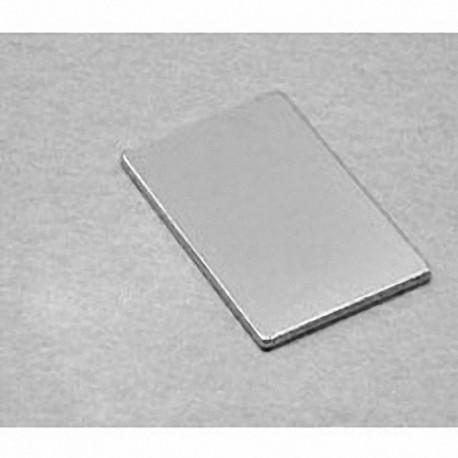 """BX8X01 Neodymium Block Magnet, 1 1/2"""" x 1"""" x 1/8"""" thick"""