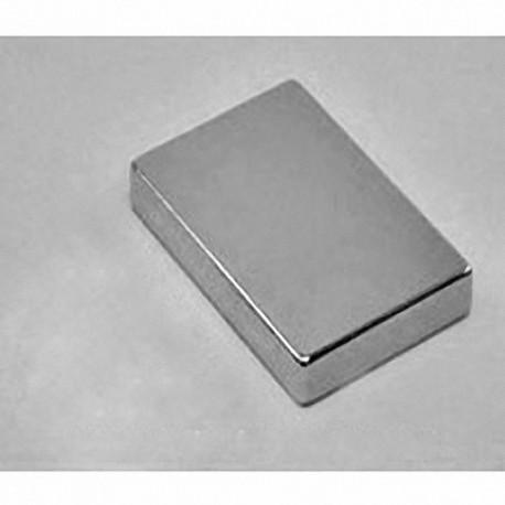 """BX8X04 Neodymium Block Magnet, 1 1/2"""" x 1"""" x 1/2"""" thick"""