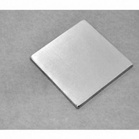 """BX8X81 Neodymium Block Magnet, 1 1/2"""" x 1 1/2"""" x 1/8"""" thick"""