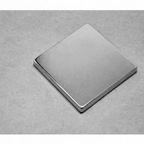 """BX8X82 Neodymium Block Magnet, 1 1/2"""" x 1 1/2"""" x 1/4"""" thick"""
