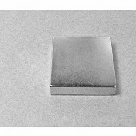 """BX8X84 Neodymium Block Magnet, 1 1/2"""" x 1 1/2"""" x 1/2"""" thick"""