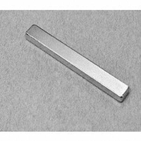 """BY042SH Neodymium Block Magnet, 2"""" x 1/4"""" x 1/8"""" thick"""