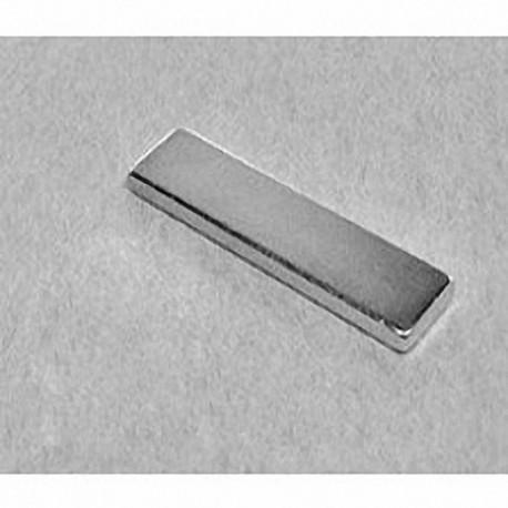 """BY082 Neodymium Block Magnet, 2"""" x 1/2"""" x 1/4"""" thick"""