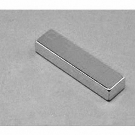"""BY084 Neodymium Block Magnet, 2"""" x 1/2"""" x 1/4"""" thick w/ holes to accept 6 screws"""