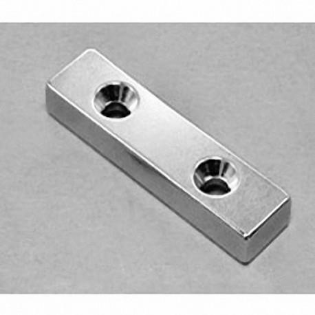 """BY084DCS Neodymium Block Magnet, 2"""" x 1/2"""" x 1/2"""" thick"""