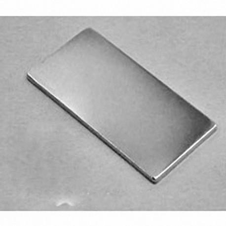 """BY0X01 Neodymium Block Magnet, 2"""" x 1"""" x 1/8"""" thick"""