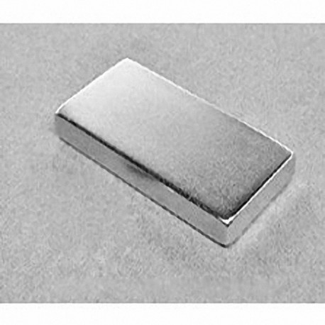 "BY0X04DCS Neodymium Block Magnet, 2"" x 1"" x 1/4"" thick w/ holes to accept 8 screws"