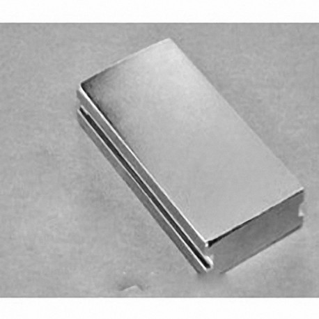 """SBX0Y06-IN Neodymium Block Magnet, 1"""" length x 2"""" width x 3/8"""" thick , with step OUT"""