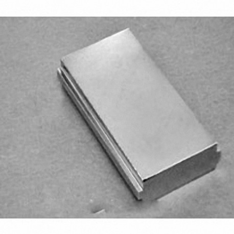 """SBX0Y06-OUT-N52 Neodymium Block Magnet, 2"""" x 1"""" x 3/8"""" thick"""