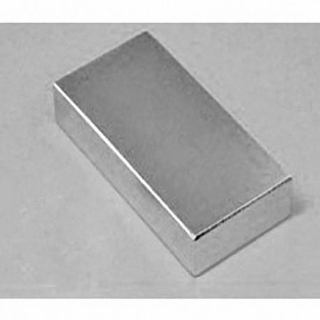 "BY0X06-N52 Neodymium Block Magnet, 2"" x 1"" x 1/2"" thick"