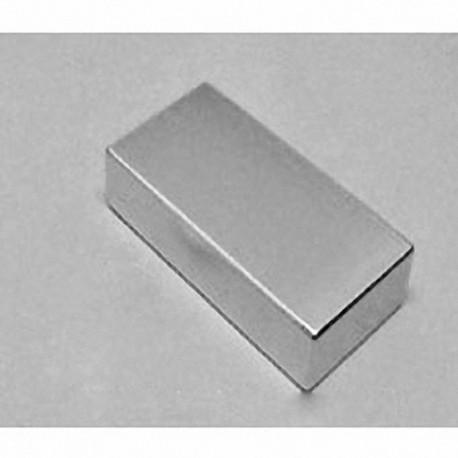 "BY0X08 Neodymium Block Magnet, 2"" x 1"" x 1/2"" thick w/ holes to accept 8 screws"
