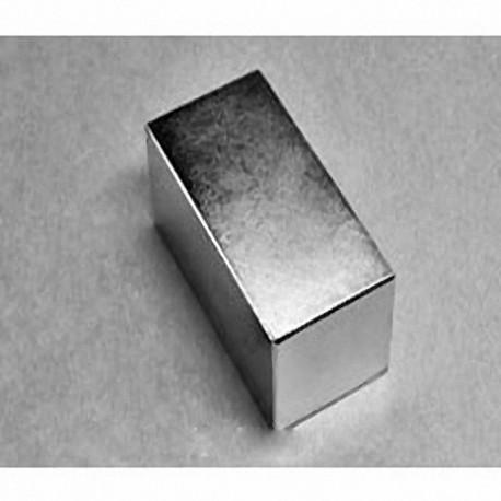 """BY0X0X0 Neodymium Block Magnet, 2"""" x 2"""" x 1/16"""" thick"""