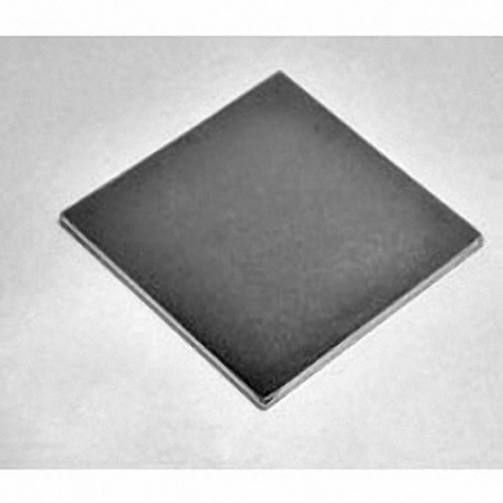 "BY0Y01 Neodymium Block Magnet, 2"" x 2"" x 1/8"" thick"