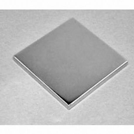 "BY0Y02 Neodymium Block Magnet, 2"" x 2"" x 1/4"" thick"