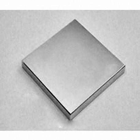 "BY0Y04 Neodymium Block Magnet, 2"" x 2"" x 1/2"" thick"