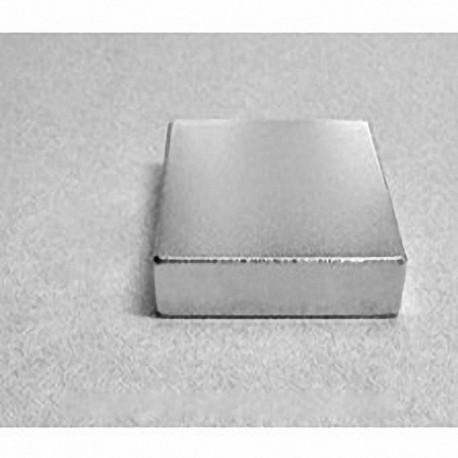 "BY0Y08 Neodymium Block Magnet, 2"" x 2"" x 1/2"" thick"