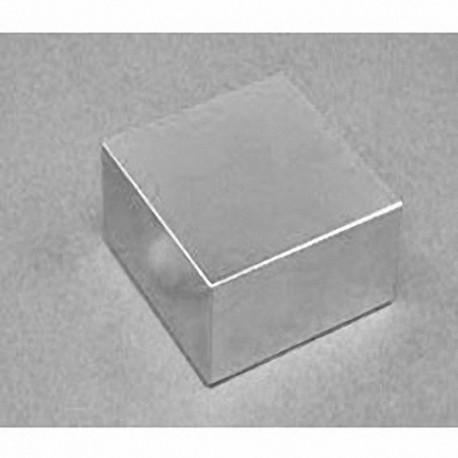 "BY0Y0X0-N52 Neodymium Block Magnet, 2"" x 2"" x 2"" thick"
