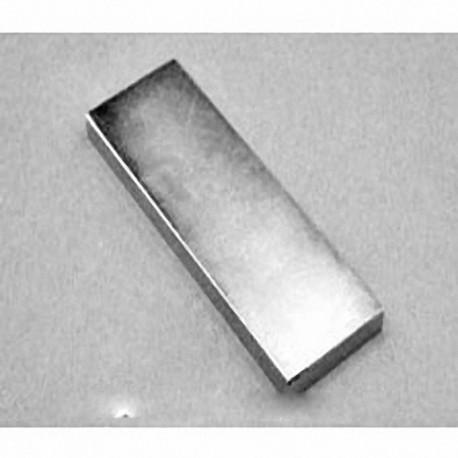 """BZ0X04 Neodymium Block Magnet, 3"""" x 1"""" x 1/2"""" thick"""