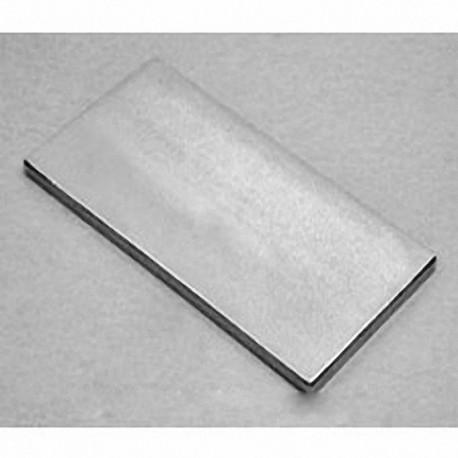 """BZ0X08 Neodymium Block Magnet, 3"""" x 1 1/2"""" x 1/8"""" thick"""