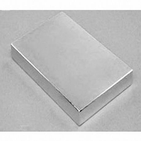 "BZ0Y08-N52 Neodymium Block Magnet, 3"" x 2"" x 1"" thick"