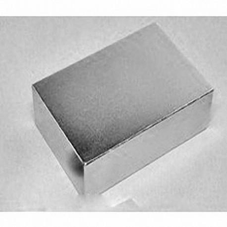 "BZ0Y0X0-N52 Neodymium Block Magnet, 3"" x 3"" x 1/8"" thick"