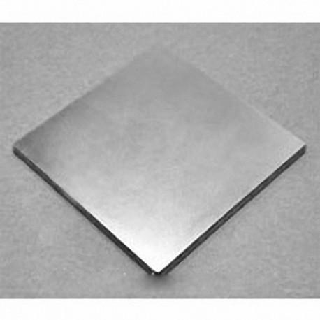 "BZ0Z02-N52 Neodymium Block Magnet, 3"" x 3"" x 1/4"" thick"