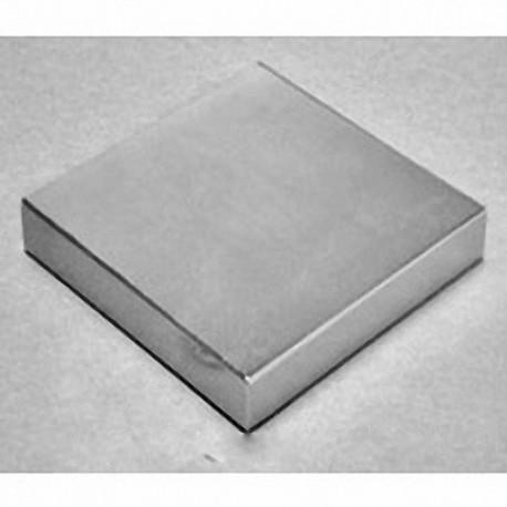 "BZ0Z08-N52 Neodymium Block Magnet, 3"" x 3"" x 1"" thick"