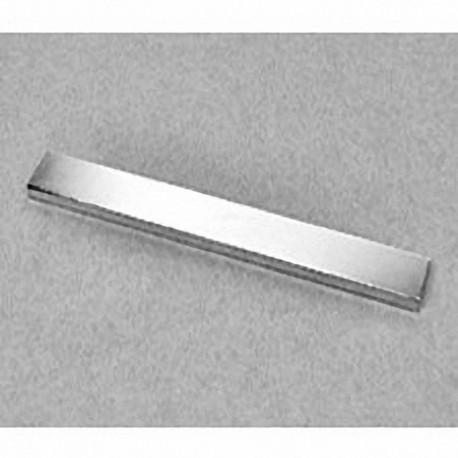 "BZX082 Neodymium Block Magnet, 4"" x 1/2"" x 1/4"" thick"