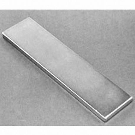 "BZX084 Neodymium Block Magnet, 4"" x 1"" x 1/8"" thick"
