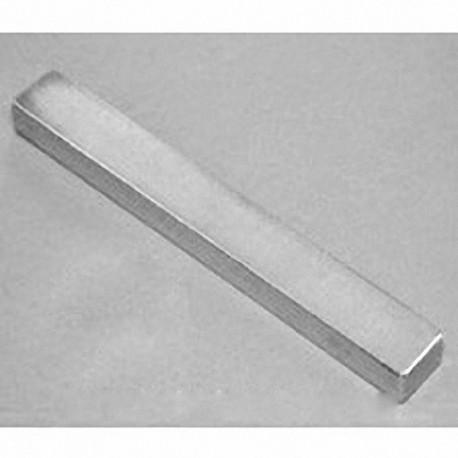 "BZX0X02 Neodymium Block Magnet, 4"" x 1"" x 1/4"" thick"