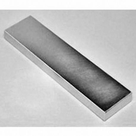 "BZX0X04 Neodymium Block Magnet, 4"" x 1"" x 1/2"" thick"