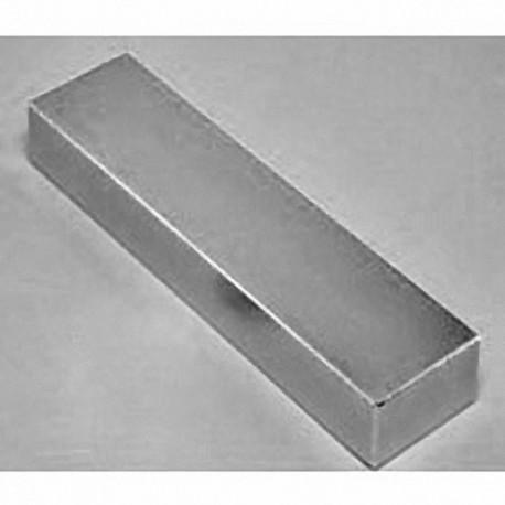 "BZX0X08 Neodymium Block Magnet, 4"" x 1"" x 1"" thick"