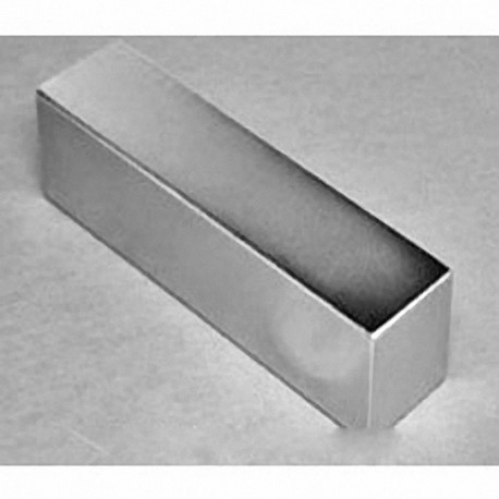 "BZX0X0X0 Neodymium Block Magnet, 4"" x 2"" x 1/4"" thick"