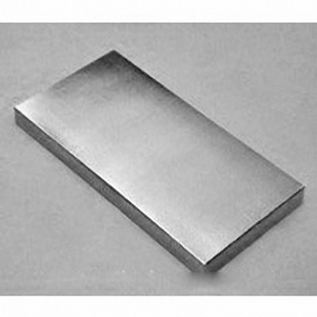 """BZX0Y04 Neodymium Block Magnet, 4"""" x 2"""" x 1/2"""" thick"""