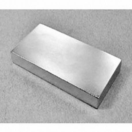 """BZX0Y08 Neodymium Block Magnet, 4"""" x 2"""" x 1/2"""" thick"""