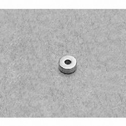 "R311 Neodymium Ring Magnet, 3/16"" od x 1/16"" id x 1/16"" thick"