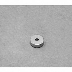 "R411 Neodymium Ring Magnet, 1/4"" od x 1/16"" id x 1/16"" thick"