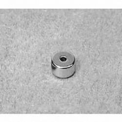 "R412 Neodymium Ring Magnet, 1/4"" od x 1/16"" id x 1/8"" thick"
