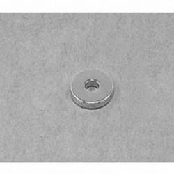 "R621 Neodymium Ring Magnet, 3/8"" od x 1/8"" id x 1/16"" thick"