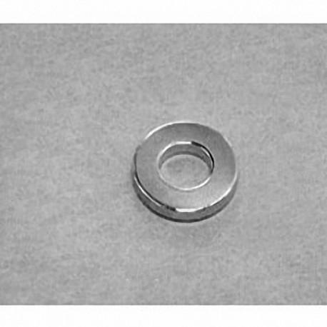 "R841 Neodymium Ring Magnet, 1/2"" od x 1/4"" id x 1/16"" thick"