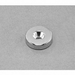 """RA22CS-S Neodymium Ring Magnet, 5/8"""" od x 1/8"""" id x 1/8"""" thick with countersunk hole for 6 screw"""
