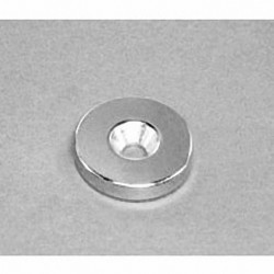 """RE22CS-S Neodymium Ring Magnet, 7/8"""" od x 1/8"""" thick with countersunk hole for 8 screw"""