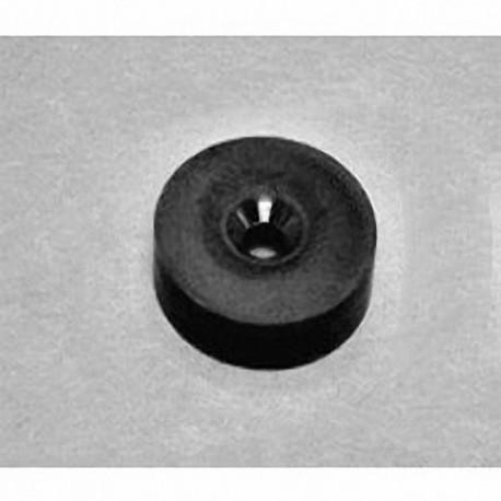 "RX034DCSPC-BLK Neodymium Ring Magnet, 1"" od x 0.194"" id x 0.349"" id x 1/4"" thick w/ hole to accept 6 screws"