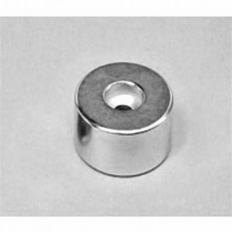 """RX038DCB Neodymium Ring Magnet, 1"""" od x 0.195"""" id x 0.375"""" id x 1/2"""" thick"""