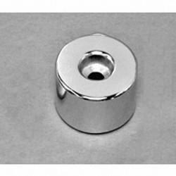 """RX038DCB-N52 Neodymium Ring Magnet, 1"""" od x 0.195"""" id x 0.375"""" id x 1/2"""" thick"""