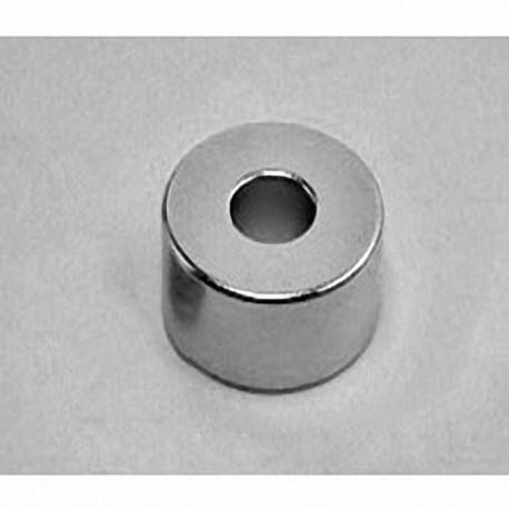 "RX068 Neodymium Ring Magnet, 1"" od x 3/8"" id x 1/2"" thick"