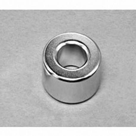"RX088 Neodymium Ring Magnet, 1"" od x 1/2"" id x 1/2"" thick"