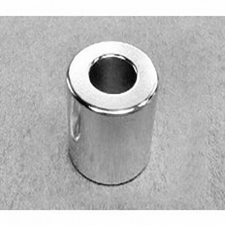 "RX08X0 Neodymium Ring Magnet, 1"" od x 1/2"" id x 1"" thick"