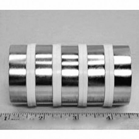 "RX828 Neodymium Ring Magnet, 1 1/2"" od x 1/8"" id x 1/2"" thick"
